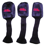 Mississippi Rebels Set of 3 Graphite Head Covers
