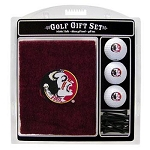 Florida State Seminoles Embroidered Golf Gift Set