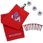 Fresno State Bulldogs Embroidered Golf Gift Set