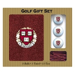 Harvard Crimson Embroidered Golf Gift Set