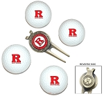 Rutgers Scarlett Knights 4 Ball Divot Tool Golf Gift Set