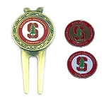 Stanford Cardinals Golf Divot Tool Set