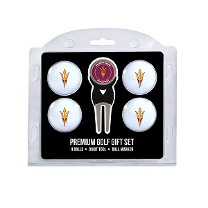 Arizona State Sun Devils 4 Ball Divot Tool Golf Gift Set