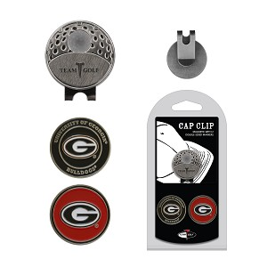 Georgia Bulldogs 2 Marker Golf Hat Clip