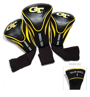 Georgia Tech Yellow Jackets Golf Contour 3 pack Head Covers