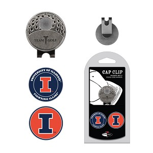Illinois Fighting Illini 2 Marker Golf Hat Clip