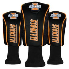 Illinois Fighting Illini Mesh Golf Set of 3 Head Covers