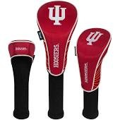 Indiana Hoosiers Nylon Graphite Golf Set of 3 Head Covers