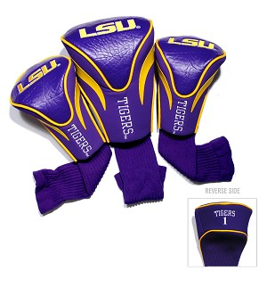 LSU Tigers Golf Contour 3 pack Head Covers