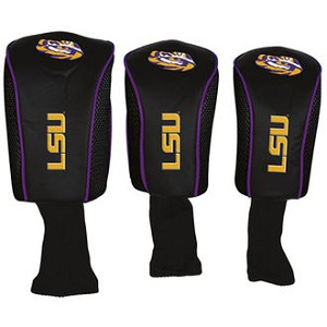 LSU Tigers Mesh Golf Set of 3 Head Covers