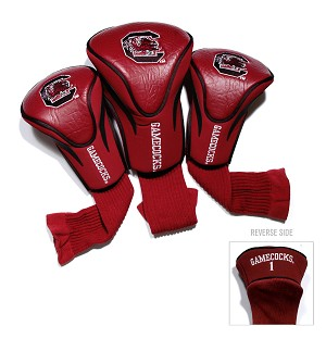 South Carolina Gamecocks Golf Contour 3 pack Head Covers