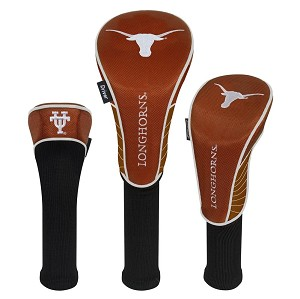 Texas Longhorns Nylon Graphite Golf Set of 3 Head Covers