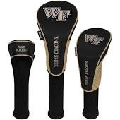 Wake Forest Demon Deacons Nylon Graphite Golf Set of 3 Head Covers