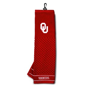 Oklahoma Sooners Embroidered Golf Towel
