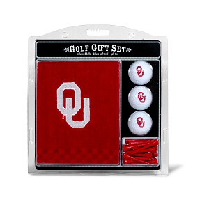 Oklahoma Sooners Embroidered Golf Gift Set