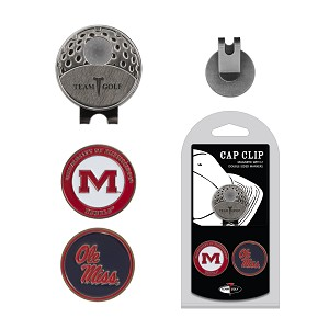 Mississippi Rebels 2 Marker Golf Hat Clip