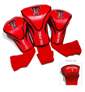 Texas Tech Red Raiders Golf Contour 3 pack Head Covers