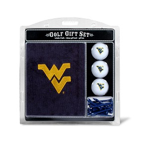 West Virginia Mountaineers Embroidered Golf Gift Set