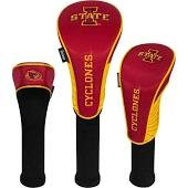 Iowa State Cyclones Nylon Graphite Golf Set of 3 Head Covers