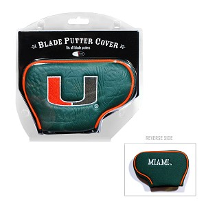 Miami Hurricanes Blade Golf Putter Cover