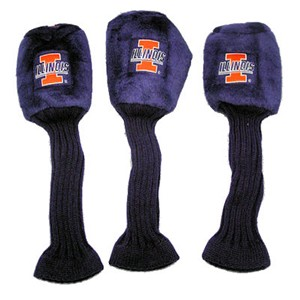 Illinois Fighting Illini Set of 3 Graphite Head Covers