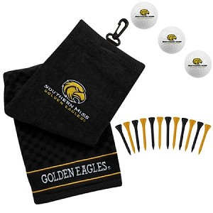 Southern Miss Golden Eagles Embroidered Golf Gift Set
