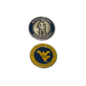 West Virginia Mountaineers Golf Ball Marker
