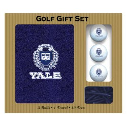 Yale Bulldogs Embroidered Golf Gift Set