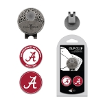 Alabama Crimson Tide 2 Marker Golf Hat Clip