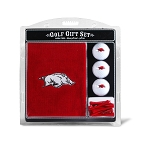 Arkansas Razorbacks Embroidered Golf Gift Set