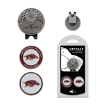 Arkansas Razorbacks 2 Marker Golf Hat Clip