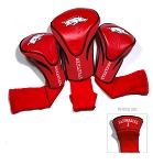 Arkansas Razorbacks Golf Contour 3 pack Head Covers