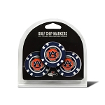 Auburn Tigers Golf 3 Pack Poker Chip