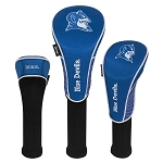 Duke Blue Devils Nylon Graphite Golf Set of 3 Head Covers