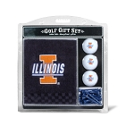 Illinois Fighting Illini Embroidered Golf Gift Set