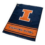 Illinois Fighting Illini Woven Golf Towel