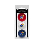 Kansas Jayhawks Golf Ball Clamshell