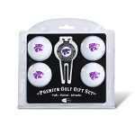 Kansas State Wildcats 4 Ball Divot Tool Golf Gift Set