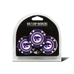 Kansas State Wildcats Golf 3 Pack Poker Chip