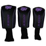 Kansas State Wildcats Mesh Golf Set of 3 Head Covers