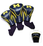 Michigan Wolverines Golf Contour 3 pack Head Covers