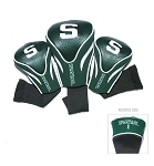 Michigan State Spartans Golf Contour 3 pack Head Covers