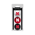 Nebraska Cornhuskers Golf Ball Clamshell