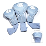 North Carolina Tar Heels Golf Contour 3 pack Head Covers
