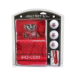 Wisconsin Badgers Embroidered Golf Gift Set