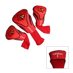Louisville Cardinals Golf Contour 3 pack Head Covers