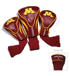 Minnesota Golden Gophers Golf Contour 3 pack Head Covers