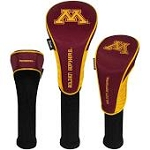 Minnesota Golden Gophers Nylon Graphite Golf Set of 3 Head Covers