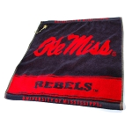 Mississippi Rebels Woven Golf Towel