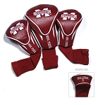 Mississippi State Bulldogs Golf Contour 3 pack Head Covers